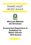2018 Guidelines for TVCL Match Officials - WIN LOSE Matches FINAL.pdf